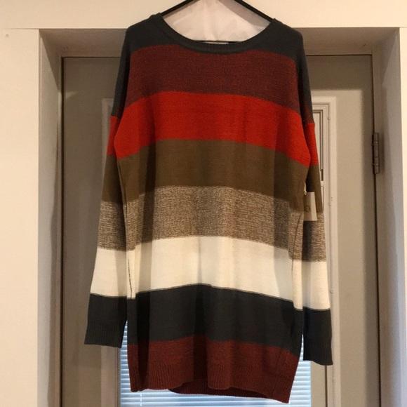 BB Dakota Dresses & Skirts - BB Dakota Stripped Sweater Dress